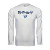 Performance White Longsleeve Shirt-Field Hockey w/ Lyon Head