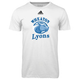 Adidas Climalite White Ultimate Performance Tee-Wheaton Lyons - Official Logo
