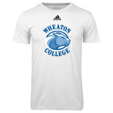 Adidas Climalite White Ultimate Performance Tee-Wheaton College - Lyon Head