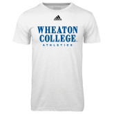 Adidas Climalite White Ultimate Performance Tee-Wheaton College Athletics
