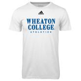 Adidas Climalite White Ultimate Performance Tee-Wheaton College Athletics