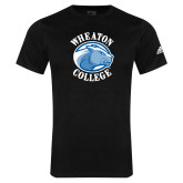 Adidas Black Logo T Shirt-Wheaton College - Lyon Head