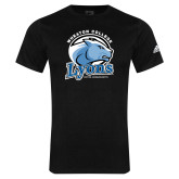 Adidas Black Logo T Shirt-Wheaton College Lyons - Lyon Head
