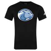 Adidas Black Logo T Shirt-Lyon Head