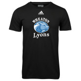 Adidas Climalite Black Ultimate Performance Tee-Wheaton Lyons - Official Logo