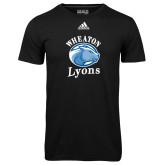 Adidas Climalite Black Ultimate Performance Tee-Wheaton Lyons - Official Logo