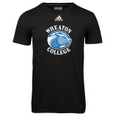 Adidas Climalite Black Ultimate Performance Tee-Wheaton College - Lyon Head