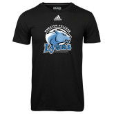 Adidas Climalite Black Ultimate Performance Tee-Wheaton College Lyons - Lyon Head