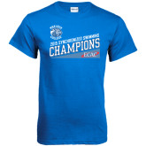 Royal T Shirt-2015 ECAC Synchronized Swimming Champions