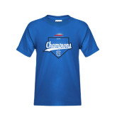 Royal T Shirt-2016 NEWMAC Champions Baseball