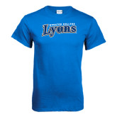 Royal T Shirt-Wheaton College Lyons Wordmark
