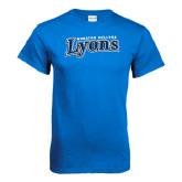 Royal T Shirt-Wheaton College Lyons Wordmark