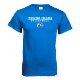 Royal T Shirt-Volleyball w/ Lyon Head