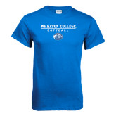 Royal T Shirt-Softball w/ Lyon Head