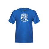 Youth Royal T Shirt-Wheaton College - Lyon Head