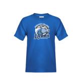 Youth Royal T Shirt-Wheaton College Lyons - Lyon Head