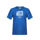 Youth Royal T Shirt-Game Set Match - Tennis Design
