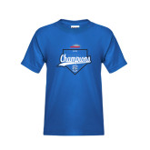 Youth Royal T Shirt-2016 NEWMAC Champions Baseball