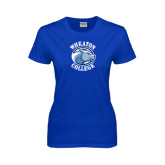 Ladies Royal T Shirt-Wheaton College - Lyon Head