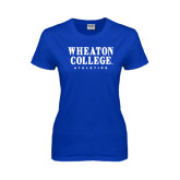 Ladies Royal T Shirt-Wheaton College Athletics