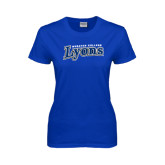 Ladies Royal T Shirt-Wheaton College Lyons Wordmark