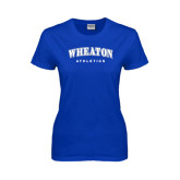 Ladies Royal T Shirt-Arched Wheaton College Athletics
