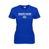Ladies Royal T Shirt-Swimming and Diving w/ Lyon Head