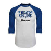 White/Royal Raglan Baseball T Shirt-Alumnus