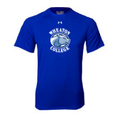 Under Armour Royal Tech Tee-Wheaton College - Lyon Head
