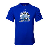 Under Armour Royal Tech Tee-Wheaton College Lyons - Lyon Head