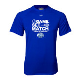 Under Armour Royal Tech Tee-Game Set Match - Tennis Design