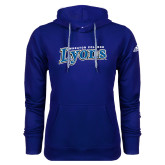 Adidas Climawarm Royal Team Issue Hoodie-Wheaton College Lyons Wordmark
