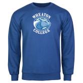 Royal Fleece Crew-Wheaton College - Lyon Head