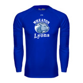 Under Armour Royal Long Sleeve Tech Tee-Wheaton Lyons - Official Logo