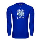 Under Armour Royal Long Sleeve Tech Tee-Wheaton Lyons - Official Logo