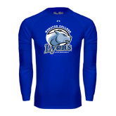 Under Armour Royal Long Sleeve Tech Tee-Wheaton College Lyons - Lyon Head