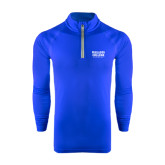 Under Armour Royal Tech 1/4 Zip Performance Shirt-Wheaton College Athletics