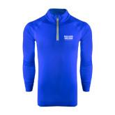 Under Armour Royal Tech 1/4 Zip Performance Shirt-Wheaton College Athletics
