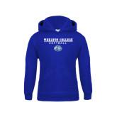 Youth Royal Fleece Hoodie-Softball w/ Lyon Head