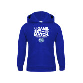 Youth Royal Fleece Hoodie-Game Set Match - Tennis Design