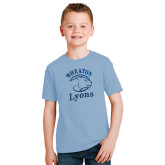Youth Light Blue T Shirt-Wheaton Lyons - Official Logo Foil