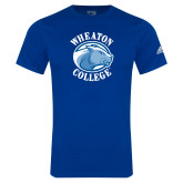 Adidas Royal Logo T Shirt-Wheaton College - Lyon Head