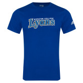 Adidas Royal Logo T Shirt-Wheaton College Lyons Wordmark