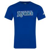 Adidas Royal Logo T Shirt-Wheaton College Lyons Wordmark
