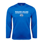 Performance Royal Longsleeve Shirt-Swimming and Diving w/ Lyon Head