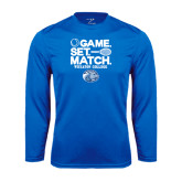 Syntrel Performance Royal Longsleeve Shirt-Game Set Match - Tennis Design