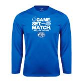 Performance Royal Longsleeve Shirt-Game Set Match - Tennis Design