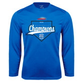 Performance Royal Longsleeve Shirt-2016 NEWMAC Champions Baseball