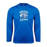 Performance Royal Longsleeve Shirt-Wheaton Lyons - Official Logo