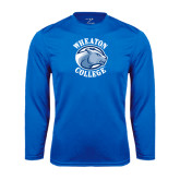 Syntrel Performance Royal Longsleeve Shirt-Wheaton College - Lyon Head